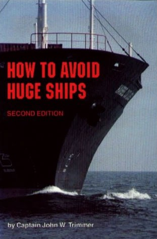 "Cover of the book ""How to Avoid Huge Ships"", featuring a picture of a huge ship"