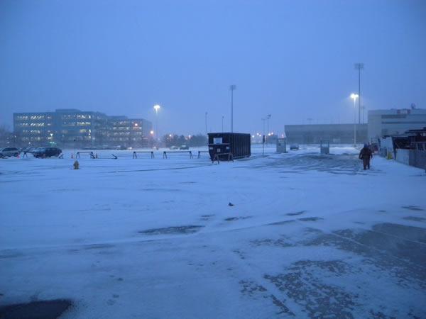 01 snowy parking lot