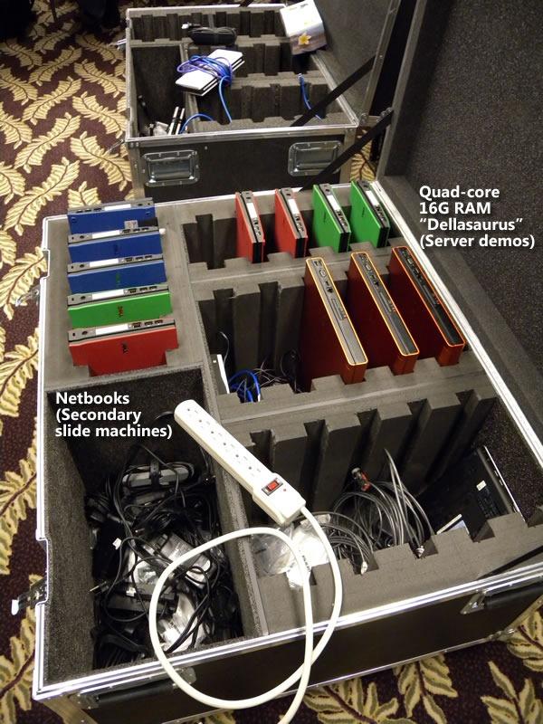 14 machines in crates