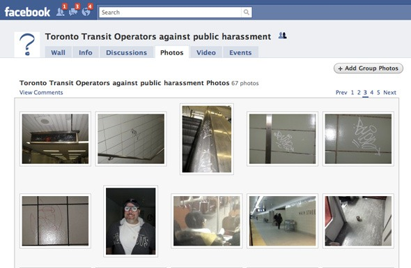 Screen shot of Toronto Transit Operators against public harassment
