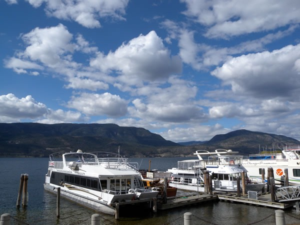 View of Okanagan Lake and boats