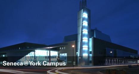 Seneca@York campus at night