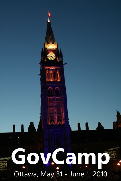 """Photo of the Peace Tower in Ottawa: """"GovCamp: Ottawa, May 31 - June 1, 2010"""""""