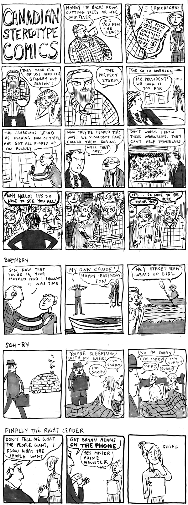 canadian stereotype comics