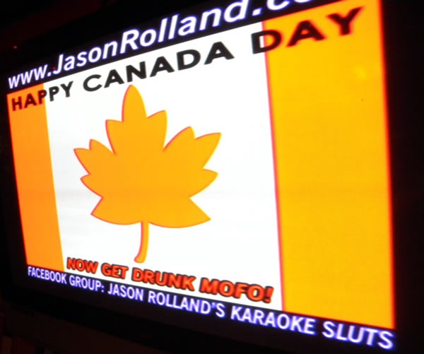 """""""Happy Canada Day! Now get drunk, mofo!"""""""