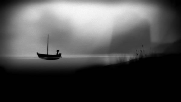 Limbo screenshot: The body travels across a body of water in a boat