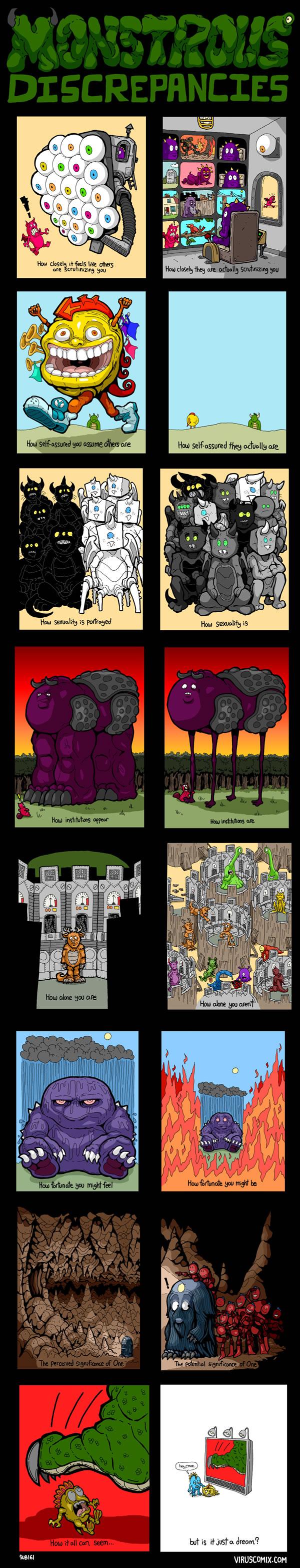'Monstrous Discrepancies' comic