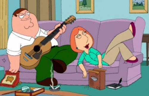 peter and lois griffin stoned