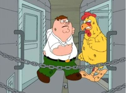 peter griffin vs chicken