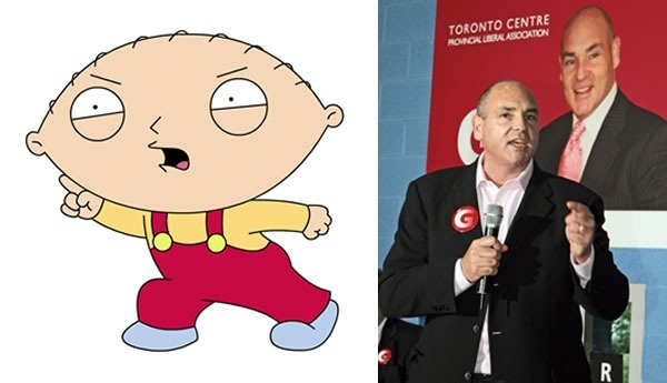 George Smitherman and Stewie Griffin