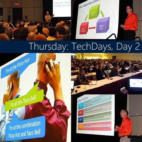 thursday - techdays day 2