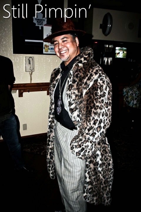 Joey deVilla in a pimp outfit