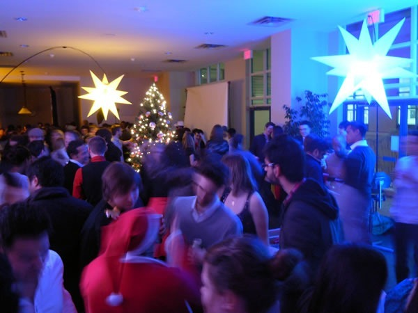 A dance floor packed with party-goers