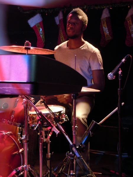 Dwayne Christie playing drums