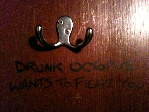"""Drunk octopus wants to fight you"""