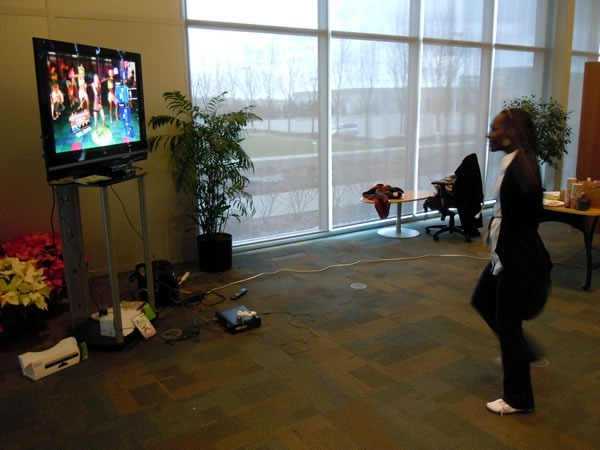 "Lydia Male plays ""Dance Central"" on the Xbox and Kinect"