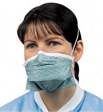 Woman wearing N95 mask