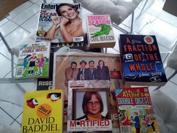 Assorted books, newspapers and magazines