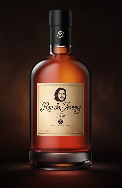 Bottle of Ron de Jeremy rum