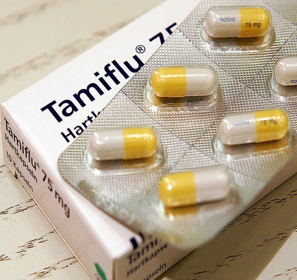 Tamiflu capsules and box