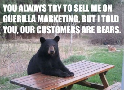 our customers are bears