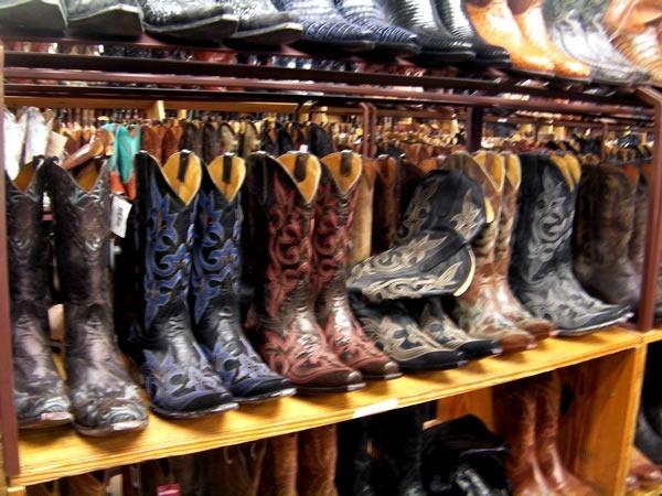 Cowboy boots at Allen's
