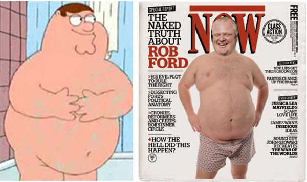 nude peter griffin and rob ford