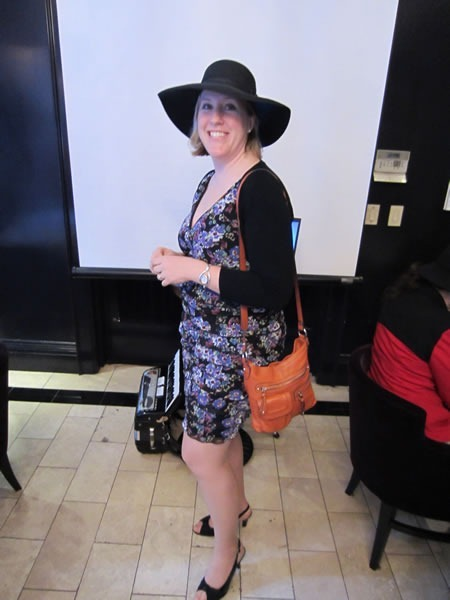 Ruth Morton in her new hat and dress
