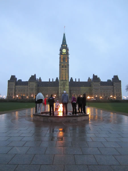 Peace Tower and Centre Block of the Parliament Buildings