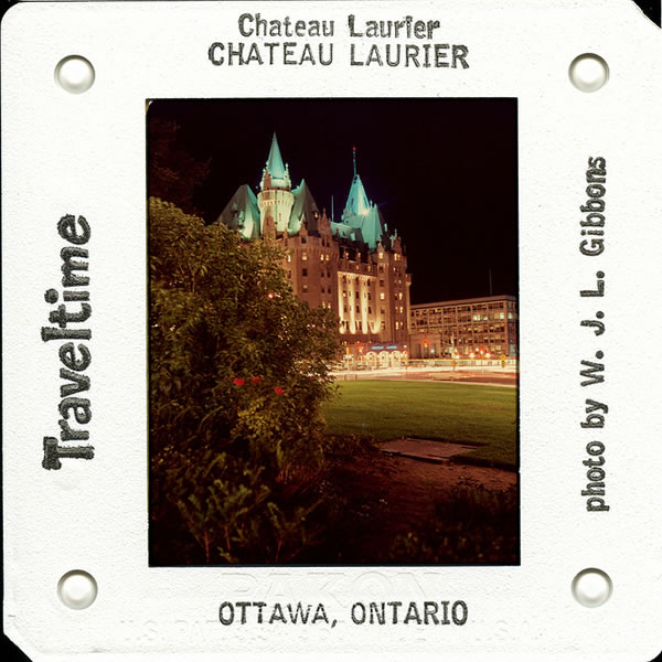 Old slide of Chateau Laurier