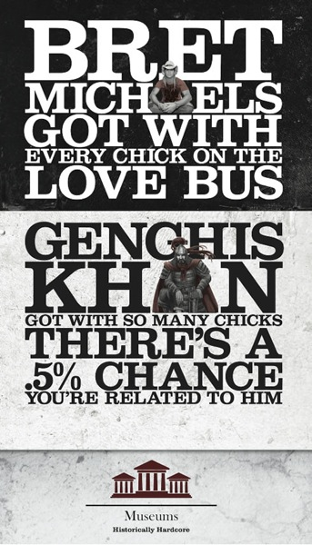 Genghis khan museum poster