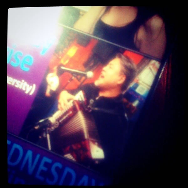 Photo of Joey deVilla on the cover of Jason Rolland's karaoke songbook