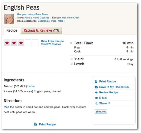 Paula deen english peas recipe