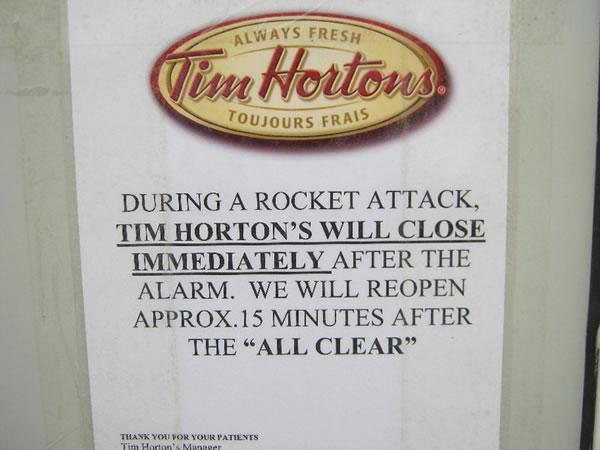 Tim hortons in kandahar