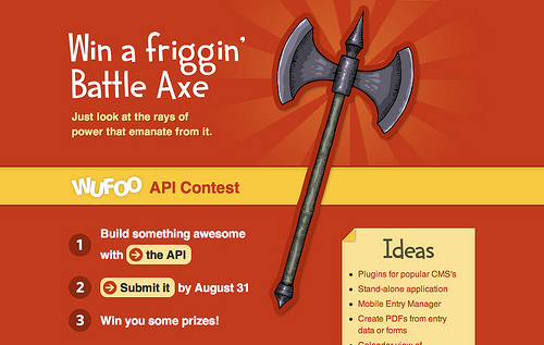 Win a battle axe