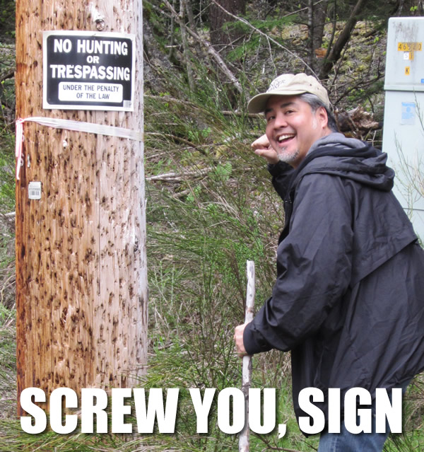 Screw you sign