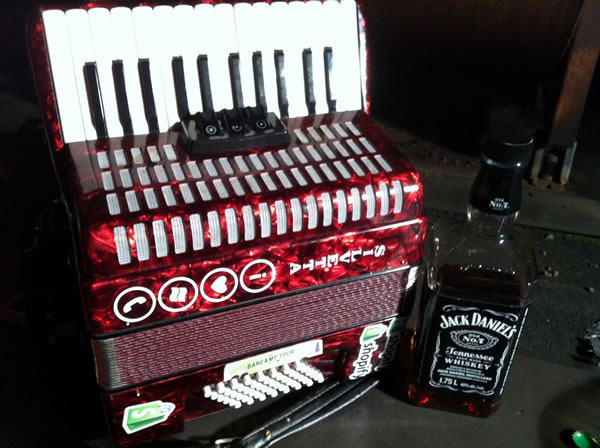 Accordion and jack daniels