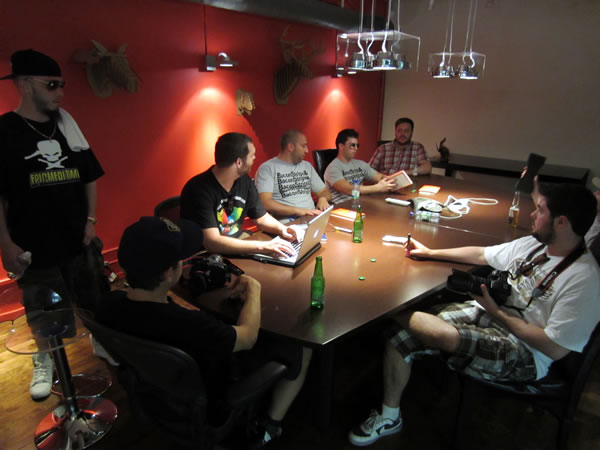 Epic meal time in shopify boardroom