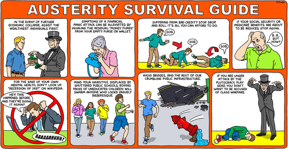 'Austerity Survival Guide' comic