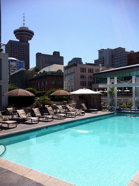 Fairmont rooftop pool