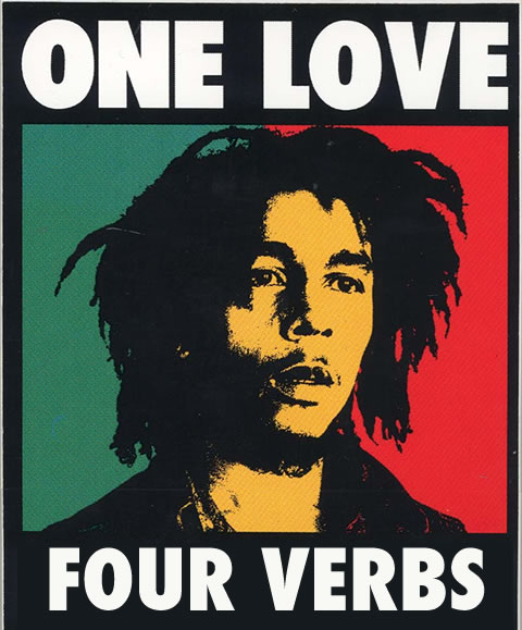 One love four verbs