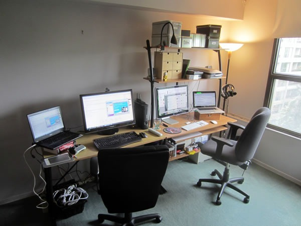 Joey's workstation, as seen from the left