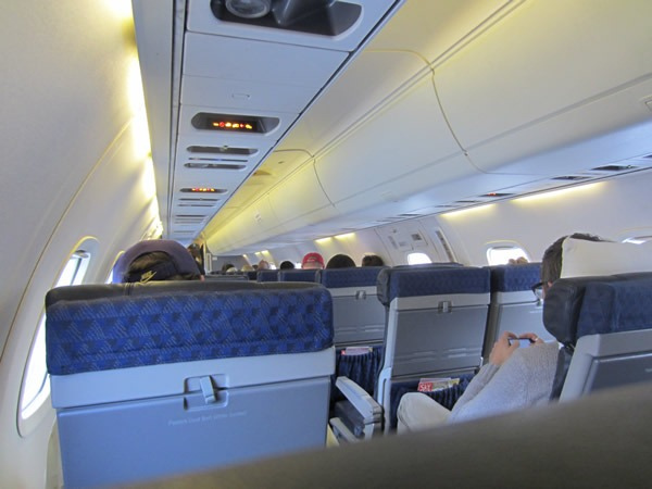 The interior of my plane
