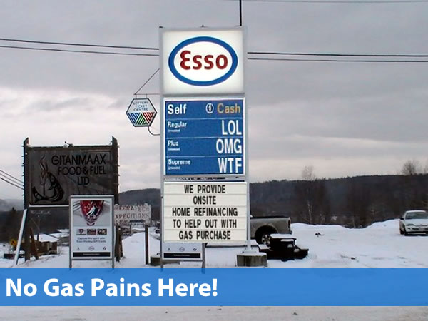 No gas pains here