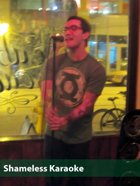 """Shameless Karaoke"": Wil McLean sings onstage at Shameless Karaoke"