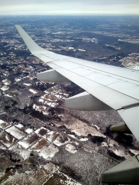 View from the window as my plane comes in for a landing in Toronto