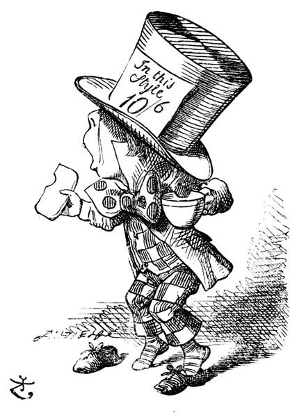 "Illustration of The Hatter from ""Alice in Wonderland"""
