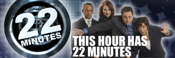 """This Hour Has 22 Minutes"" cast and logo"