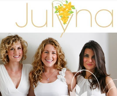 """Julyna"": Screenshot of the ""Julyna"" logo and a portion of the page"