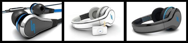 Headphones offered by SMS By 50: Earbuds, wired and wireless